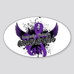 Domestic Violence Awareness 16 Sticker (Oval)